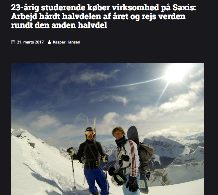 Annonce fra SAXIS Bloggen